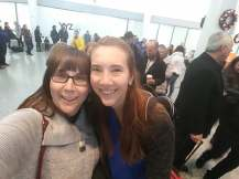 Reunited with my momma at Pearson.
