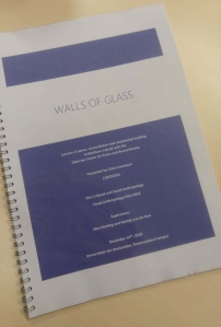 Walls of Glass - Written Thesis